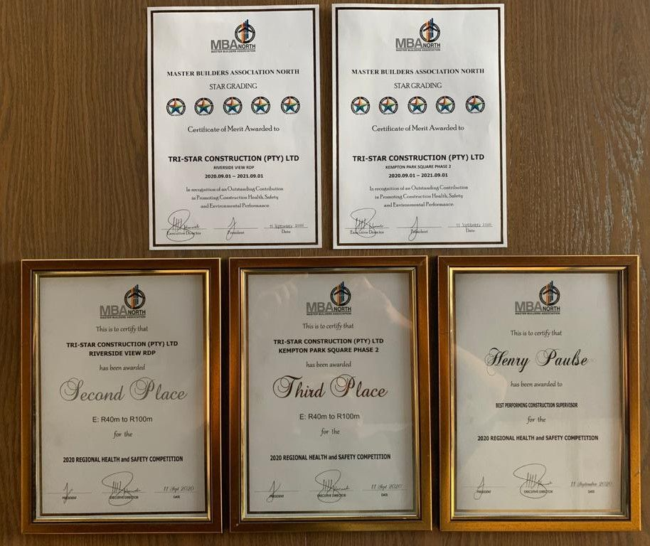 MBA North Safety Competition Awards 2020